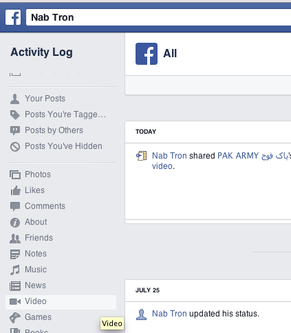 Delete shared links videos from Facebook Wall more